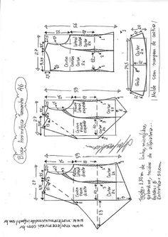 DIY – molde, corte e costura – Marlene Mukai. Blusa assimétrica com gola. Esquema de modelagem de blusa assimétrica com gola do 36 ao 56. Necessita prática em modelagem costura.