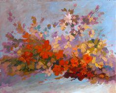 ramo fiorito 40x50 olio su tela