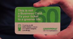 Business card doubles as a free train pass for recipients