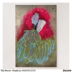 The Parrot - Puzzle Custom Gift Boxes, Customized Gifts, Make Your Own Puzzle, Photo Composition, High Quality Images, Parrot, Your Design, Nativity, Vibrant Colors