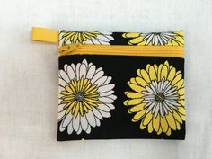 Chrysanthemum Zipper Coin Purse, Credit Card, Earbud, Music Player Pouch by NancyPKdesigns on Etsy