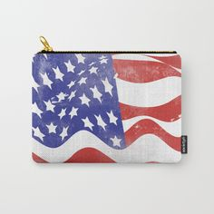 United States Flag - USA Carry-All Pouch by All Is One #carry-allpouches #carryallpouches #pouches #bags #bag #zipperpouch #zipperbag #zipperpurse #usa #usaflag #redwhiteandblue #memorialday #americanflag #cute #patriotic #gifts #xoxo