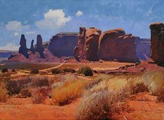 The Dry Season, Monument Valley 18x24 inches, oil by Calvin Liang
