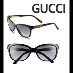 Gucci Bamboo Temple Sunglasses Brand new never worn.  Natural bamboo trim at the temples lends an island vibe to vacation-ready Gucci sunglasses outfitted with scratch-resistant lenses. A classic cut and Italian-crafted quality make these a timeless look you can wear for many seasons to come. - 55mm lens width; 17mm bridge width; 130mm temple length - Gucci style number: GG3672/S - 100% UV protection - Scratch-resistant CR-39 lenses - Acetate/bamboo Gucci Accessories Sunglasses