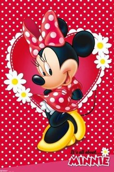 Minnie Mouse It's All About Minnie Classic 24X36 Walt Disney Poster !
