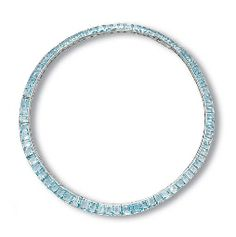 AN AQUAMARINE NECKLACE, BY CARTIER