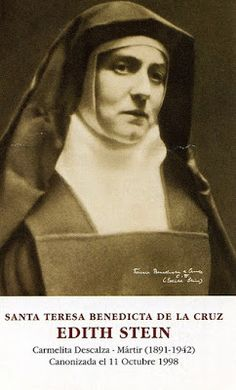 Santos, Beatos, Veneráveis e Servos de Deus: SANTA TERESA BENEDITA DA CRUZ (EDITH STEIN), Virge... Edith Stein, Santa Teresa, Spirited Art, Catholic Saints, Long Time Ago, Sound Of Music, Christian Faith, Real Life, Catholic Art