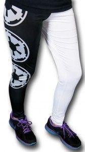 Galactic Empire Black And White Leggings