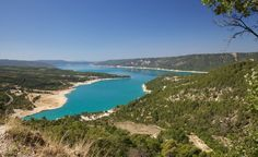 The stunning Lac Sainte Croix at the Parc du Verdon, on the way to Nice, in France.