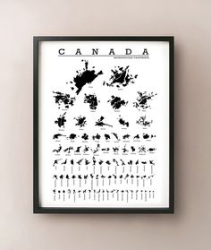 Canada Cities Silhouette Map Print by CartoCreative on Etsy