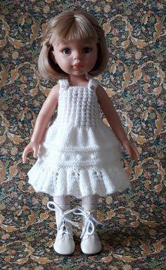 Disney Dolls, Doll Costume, Baby Born, Little Darlings, Doll Patterns, Vintage Dolls, Baby Knitting, Knit Dress, American Girl