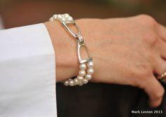 Bracelets : Stirrup and Pearl Bracelet