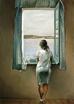 Ragazza alla finestra ( 1925 ) - Salvador Dalì
