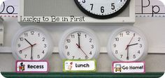 Buy inexpensive clocks from Ikea and set the time of your specials/important times during the day!