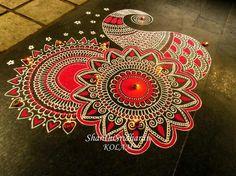 Rangoli Borders, Rangoli Patterns, Rangoli Border Designs, Rangoli Ideas, Beautiful Rangoli Designs, Kolam Designs, Doodle Patterns, Rangoli Designs Latest, Latest Rangoli