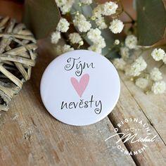 Svatební placka / buttonek - 25 Place Cards, Place Card Holders, Design