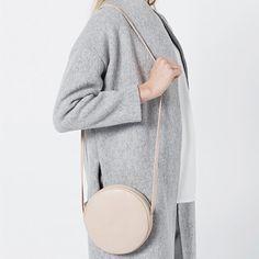 Turno borsetta di pelle beige / minimalista borsa / di RAWclothes