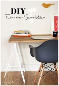 DIY Schreibtisch Holz Bock IKEA Kiefer oh yes, I want to try this!! Platte - und dann ein einfaches gestell darunter
