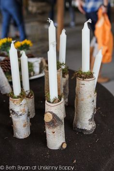 Country Living Fair Atlanta 2012 Birch Bark Candle Holders