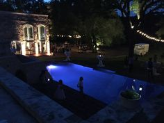 night fall at Blue Rock Estate www.bluerockestate.com Dripping Springs, Texas Hill Country, Blues Rock, Spring Wedding, Wedding Venues, Mansions, Night, House Styles, Fall