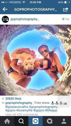 Cool go pro photo idea for at the beach in Hawaii!!