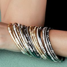 Stacking bracelets: You can't go wrong with an armful of bangles.