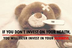 """""""If you don't invest on your health, you will later invest in your illness.""""  Be reminded. ~ http://www.familychiropractic.com.sg/  #health #illness #lifestyle #chiropractor #singapore"""