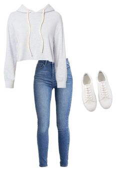 A fashion look from June 2017 featuring light blue long sleeve shirt, blue colour jeans and round toe shoes. Browse and shop related looks. Cute Comfy Outfits, Swag Outfits, Cute Casual Outfits, Simple Outfits, Stylish Outfits, Fall Outfits, Basic Outfits, Teenage Girl Outfits, Girls Fashion Clothes