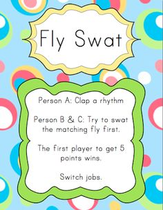 Centers: Fly Swat | Elementary Music Resources