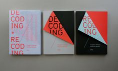 Brilliant piece by Rob Van Hoesel. Decoding + Recoding books for the 2010 Graphic Design Festival Breda. Print Layout, Layout Design, Print Design, Book Cover Design, Book Design, Brochure Design, Branding Design, Flyer Design, Design Editorial