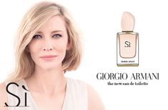 Armani launches a new version of the Sì fragrance Cate Blanchett Fan
