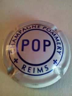 Capsule de champagne POMMERY POP (ma ref c423 personnel)