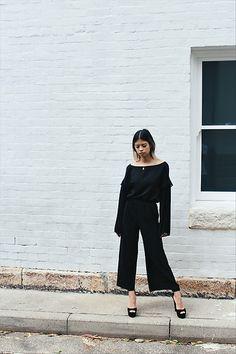 Get this look: http://lb.nu/look/8581573  More looks by Leanne Pak: http://lb.nu/themindsparadise  Items in this look:  Livingstone Cooper Top, H&M Pants, Kurt Geiger Heels   #chic #minimal #romantic
