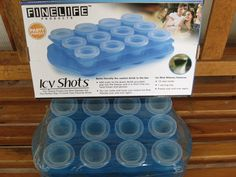 Party Barware Plastic Frozen Ice Shot Drinks 12 Cups with Serving Tray  $9.81