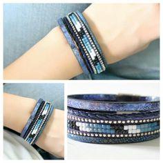 bracelet-multi-tours-cuir-bleu-tendance-2017