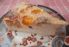Легкий пирог из творога с фруктами
