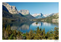 St. Mary Lake at Glacier National Park, Montana