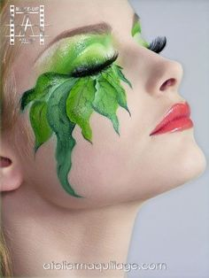 This shows how fantasy makeup is not always prosthetics and sometimes can be a simple beauty makeup on the face