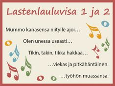 Tulostettava Lastenlauluvisa ryhmätoimintaan | RyhmäRenki Teaching Music, Kids Learning, Word Search, Preschool, Activities, Words, Opi, Children, Young Children