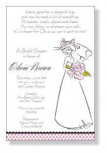 Mindy Weiss- bridal shower invitation