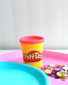 Fine motor treasure hunt – hide gems inside the Play-Doh compound and have the kids dig them out. Promotes fine motor skills and helps in handwriting development.