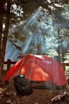 Camping...sunlight thru the campfire smoke!