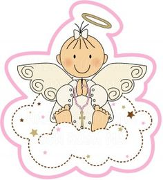 Imágenes tiernas de Angelitos para Bautismo