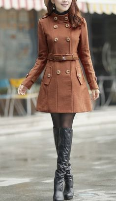 New style Coffee Wool long Coatmore colour and size by thesimpson, $86.00