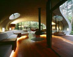 Living Room - Houses Ellipse by Kitaro Ide Japan