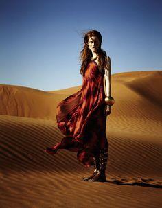 elle germany june 2012, desert, fashion editorial