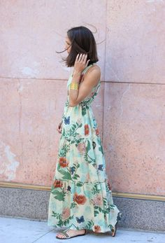 Maravilla Maxi Dress // The Fox and She #anthropologie #thefoxandshe