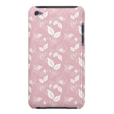 Creamy Pink Flourish iPod Touch Cases