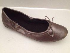Ann Taylor Loft #Shoes Womens Size 8.5 M Ballet Flats Silver Metallic 8 1/2 M #AnnTaylor #flats