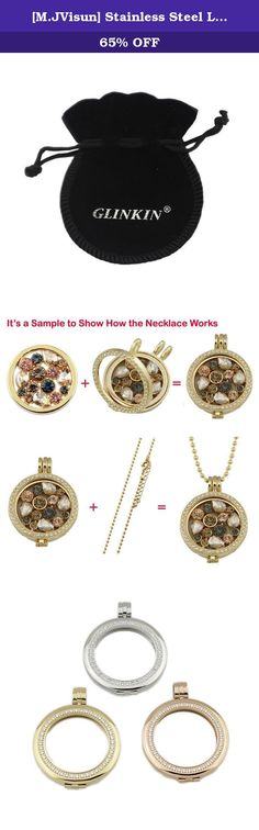 [M.JVisun] Stainless Steel Large Pendant Locket Necklace 35mm Holder Keeper Carrier Frame For 33mm Coin (3pcs - C Style(Silver+Gold+Rose Gold)). Description: ●100% brand new and high quality. ●As a perfect gift for yourself,lover,family and friends. ●Beautifully made pendant necklace holder for DIY necklace in any occasion. ●Material: Stainless Steel + Gold Plated + Czech Stones ●Dimension: Holder Diameter Size: Large Size ( 35mm ), which fits 33mm coin; ●Package: OPP Bag + Free Gift…
